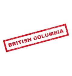 British columbia rubber stamp vector