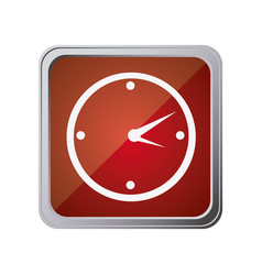 button with wall clock with background red vector image