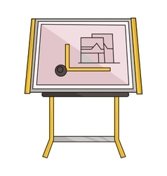 Drawing board icon in cartoon style isolated on vector image