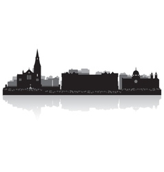 Galway city skyline silhouette vector image