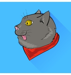 Grey cat vector