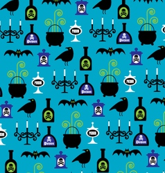 halloween pattern vector image vector image