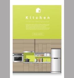 Interior design Modern kitchen banner 3 vector image