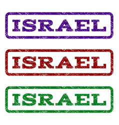 Israel watermark stamp vector