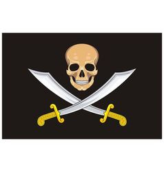 Pirate Flag Jolly Roger vector image vector image
