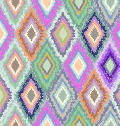 Pretty Geometric Ikat print vector image