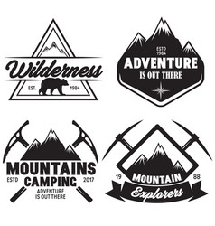 set of outdoor wild life related labels badges vector image