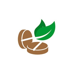 Tablets herbal logo vector image vector image