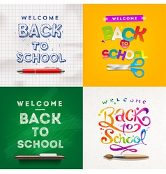 Back to school set of backgrounds vector image vector image