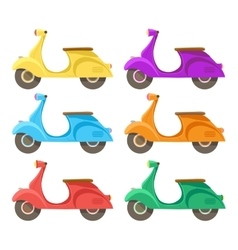 creative flat design scooter icon vector image vector image