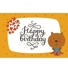 Cute animal card vector image vector image