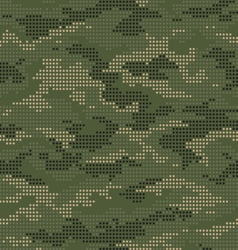 Dot camouflage seamless pattern green vector image vector image