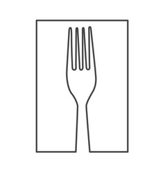 figure fork cutlery icon vector image