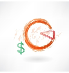 financial schedule grunge icon vector image vector image