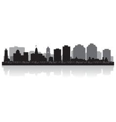 Halifax Canada city skyline silhouette vector image vector image