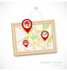 Navigration map vector image vector image