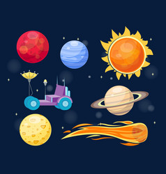 astronomy space cartoon set vector image vector image