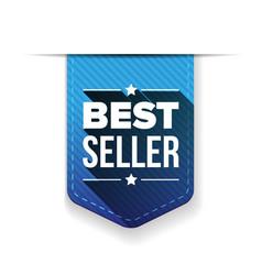 Best Seller blue ribbon vector image
