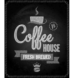 coffee menu design chalkboard background vector image vector image