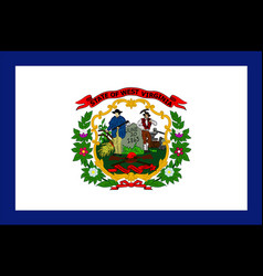 flag of west virginia usa vector image