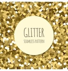 Golden glitter seamless pattern vector image