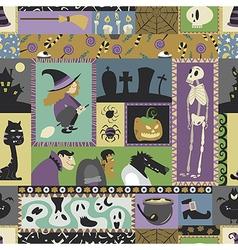 Halloween pattern 06 vector image vector image