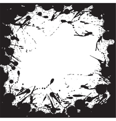 Grunge background with ink splat effect vector image