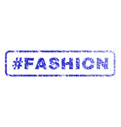 hashtag fashion rubber stamp vector image vector image