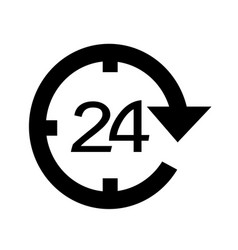 24 hour icon design vector image