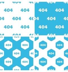 404 patterns set vector