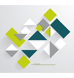Abstract 3D Paper Graphics vector