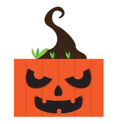 angry halloween cartoon pumpkin avatar vector image