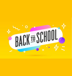 back to school speech bubble banner poster vector image