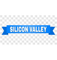 Blue tape with silicon valley text vector