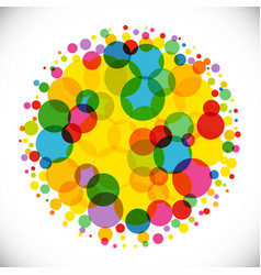 bubble ball colorful bg vector image