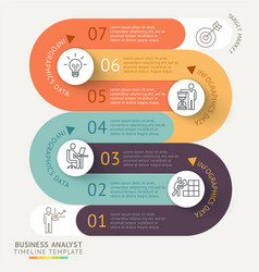 business infographics timeline template vector image