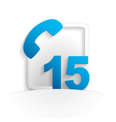 call 15 icon vector image