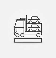 Car transporter icon vector