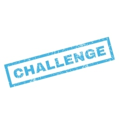 Challenge Rubber Stamp vector