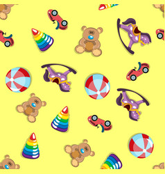 Children s toys seamless pattern vector