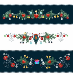 Christmas Ornamental Frame vector image
