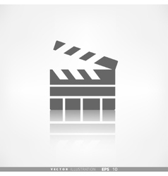 Clapperboard icon Film cinema movie symbol vector image