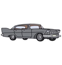 Classic big american car vector