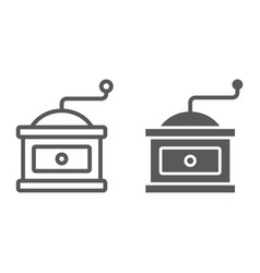Coffee grinder line and glyph icon coffee vector