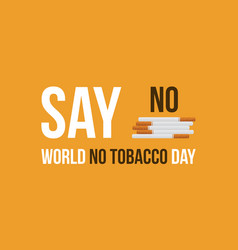 Collection stock world no tobacco day vector