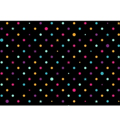 Colorful Dots Black Background vector image