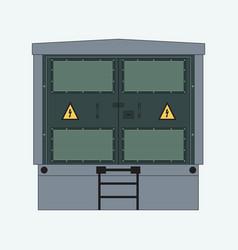 complete transformer substation vector image