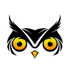 Cool owl symbol vector