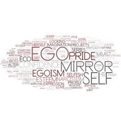 ego word cloud concept vector image