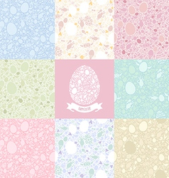 eight versions easter pattern vector image